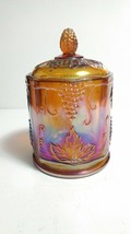 """Indiana Colony Harvest Marigold Carnival Glass 7""""  Candy Biscuit Cigar J... - $23.76"""