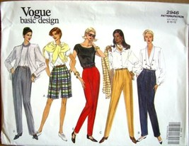 Vogue Basic Design Pattern 2946 Pants Shorts 8 10 12 Vintage 1992 Uncut - $9.99