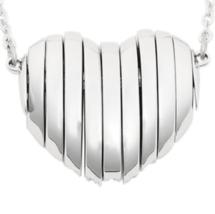 Swarovski Crystal Authentic Pendant Necklace Heart EXPLORE Signed Reversible image 5