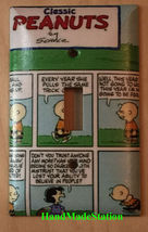 Classic Peanuts Comic Book Light Switch Power Outlet Wall Cover Plate Home Decor