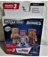 3DIT Character Creator-Original Heroes Basic Refill Pack NIP - $9.00
