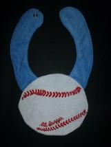 "NEW Carter's Baseball  ""Lil Slugger"" Baby Boys Terry Cloth Teething Droo... - $3.95"
