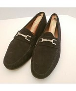 Paolo De Marco Handmade Spain Men 10 Wide Black Suede Dress Shoes Loafer... - $28.62