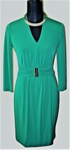 Calvin Klein Classic Black Fitted Dress Sz 8 ~ Cap Sleeve ~ Tie Belt w/P... - $37.06