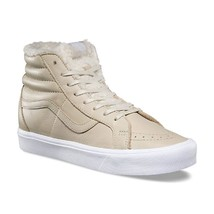 Vans Sk8 Hi Reissue Lite (Sherpa) Cement True White Faux Fur Warm Men's 8 - $59.95
