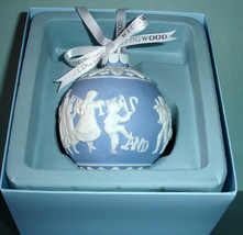 Wedgwood Merry Christmas & Happy New Year Ball Ornament Blue & White New - $29.80