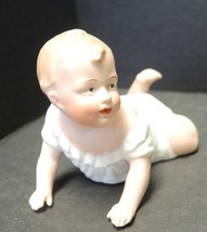 Antique Heubach Bisque Piano Baby Depicts Crawling Baby - $142.49