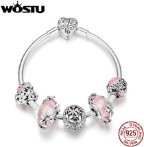 WOSTU 2019 New 925 Sterling Silver Fairy's Garden Charm Bangles and Brac... - $103.49