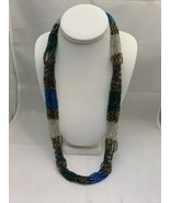 "Vintage Women's Multi Color & Layered Micro Glass Bead 30"" Necklace (1931) - $30.00"