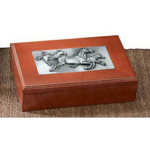 Running Horses Wood Trinket Box - $39.95