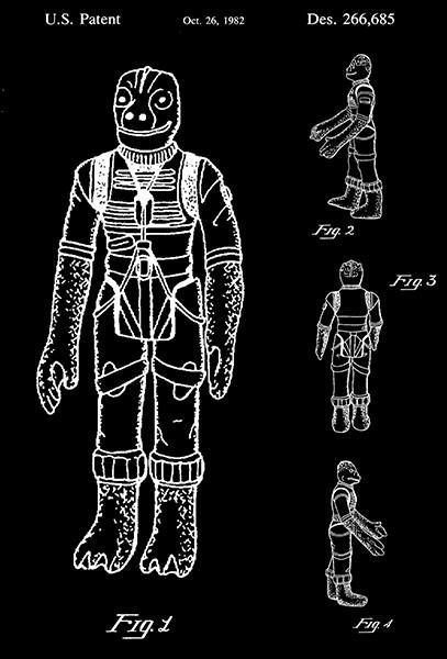 Primary image for 1982 - Bossk Bounty Hunter - Star Wars Action Figure - Patent Art Poster