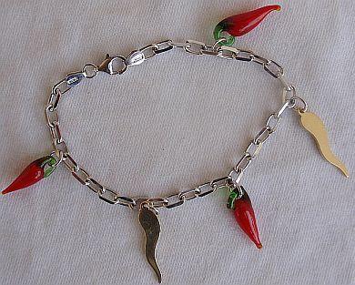 Red pepper Morano bracelet