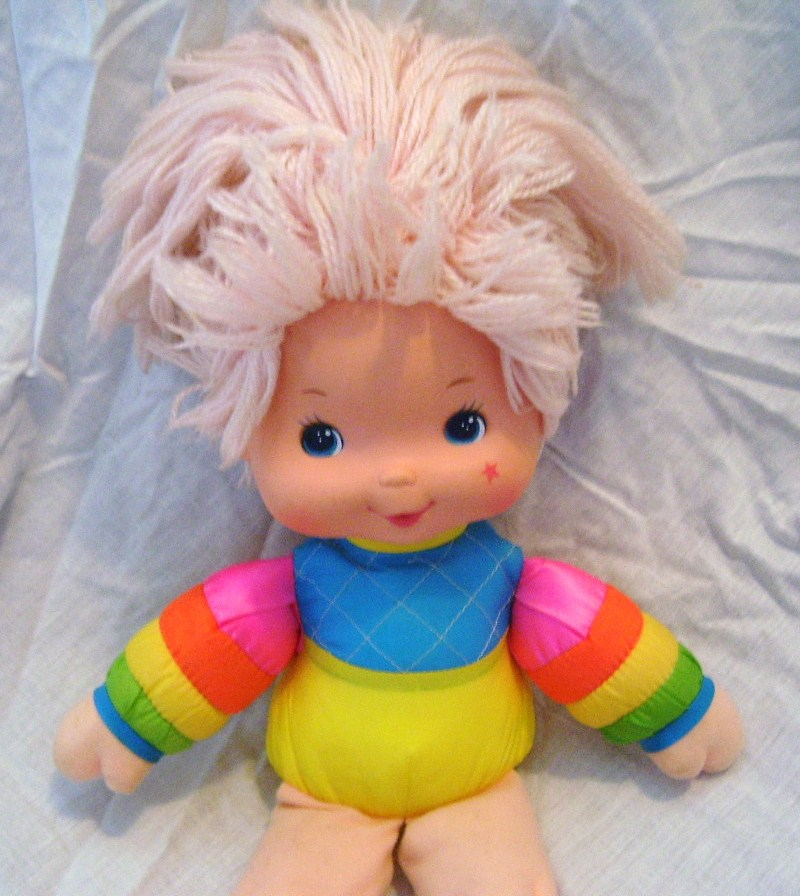 """VINTAGE Rainbow Brite BABY BRITE Doll 1983 Hallmark Cards Mattel 15 1/2"""""""