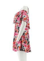 Fit 4 U Off the Shoulder Ruffle Swim Dress Pink 12 NEW A350540 image 4
