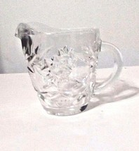 Vintage Anchor Hocking Clear Glass Creamer Cream Pitcher Star of David  ... - $12.38