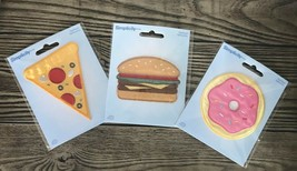 Pizza Hamburger Doughnut Simplicity Food Iron-on Patch Applique New in Package!  - $7.28