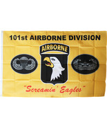 101st Airborne Division - 3'X5' Polyester Flag (Yellow) - $15.60