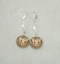 Cute Rat, Moonstone Gemstone Dangle Earrings with leverbacks - Rat LOVERS - $17.99
