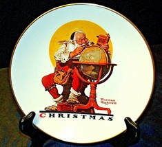 Planning Christmas by Norman Rockwell Plate with Box( Gorham ) AA20-CP2178 image 1