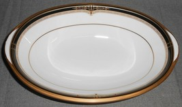Noritake Gold And Sable Pattern Oval Vegetable Bowl - $128.69
