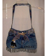 School mascot blue jean purse - $20.00