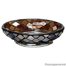 NEW India Ink Morocco Soap Dish - Mosaic Glass ... - $14.99