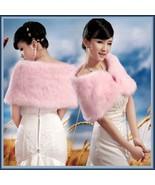 Fluffy Pink Faux Fur Evening Capet Shrug Wrap  - $46.95