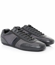 New Hugo Boss Men's Premium Fashion Leather Sport Sneakers Shoes Thatoz Grey