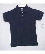 Polo Shirt School Uniform Navy Blue Short Sleeve Unisex French Toast 10 ... - $13.55