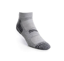 Puma Men's 6 Pack Low Cut CushionedGym Mesh Ventilated Logo Grey Socks image 2