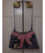 Custom made westesrn style blue jean purse - $20.00