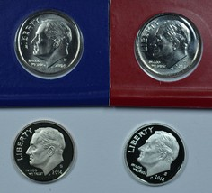 2014 P D S S Roosevelt Uncirculated & Proof dimes - $16.00