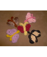 crochet butterfly magnet or pin - $0.00