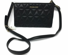 Michael Kors Crossbodies LG Crossbody Clutch Qulited Black - $139.90
