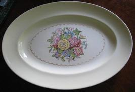 Paden City Pottery-Oval Serving Platter-Delmar Garden-W.Virginia-40's - $10.00