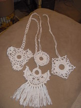 crochet curtain/ceiling fan pulls - $2.00
