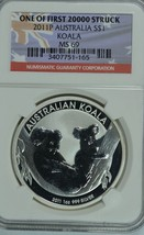 2011 P Australia Silver Koala NGC MS69 One of first 20000 struck - $80.00