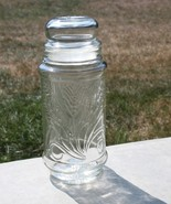 Mr. Peanut 1982 Clear Glass Collectors Canister Features Wheat Design - $9.95