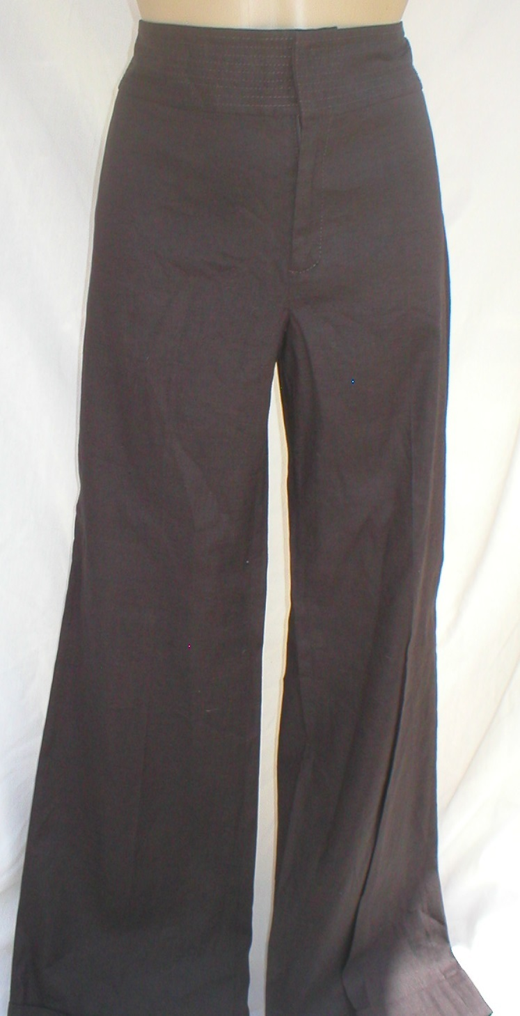 Banana Republic Stretch Brown linen blend pants 8