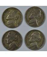 1942 - 1945 P Jefferson circulated 35% silver nickels - $13.00