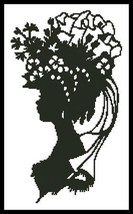 Lady Silouette 6 cross stitch chart Artecy Cross Stitch Chart - $7.20