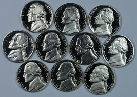 1970 - 1979 S Jefferson Proof nickel set - $15.00