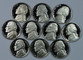 1980 - 1989 S Jefferson Proof nickel set - $14.00
