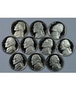 1980 - 1989 S Jefferson Proof nickel set - $14.00
