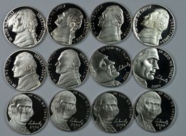 2000 - 2009 S Jefferson Proof nickel set - $19.00