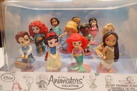 New Disney Animators Collection Set of 11 Mini Doll Deluxe Figurine Princess - $45.00