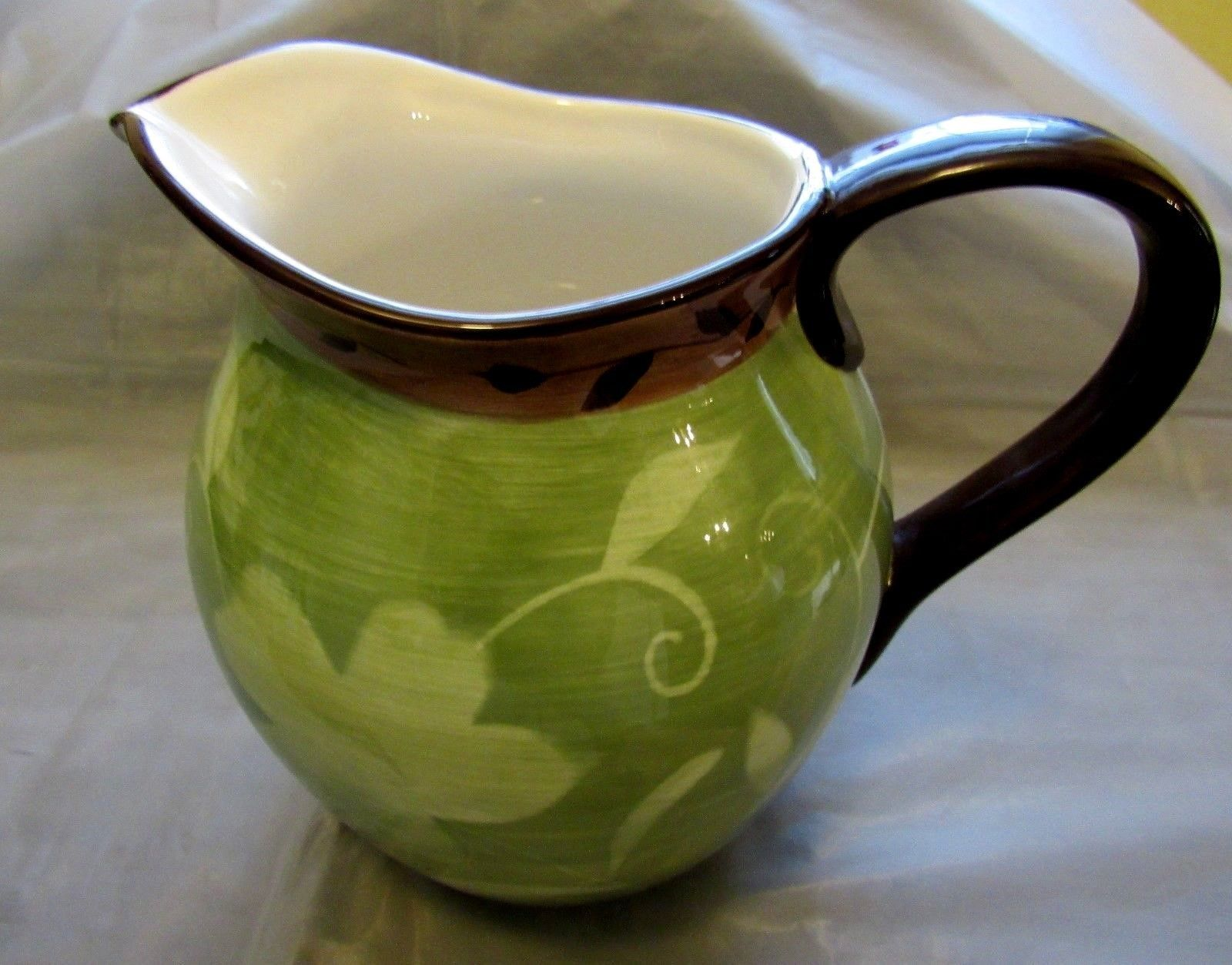 Patio Garden Large Green and Brown Pitcher and 40 similar items