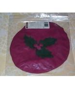Longaberger 2003 Caroling Basket Lid Cover Paprika Red New In Bag - $9.85