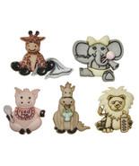Cute & Cuddly Wild Babies Plastic Buttons/ Sewing supplies /Novelty Butt... - $4.25