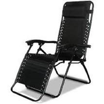 Zero Gravity Caravan Canopy Patio Deck Outdoor Lounge Chair Recliner -Black - $62.28